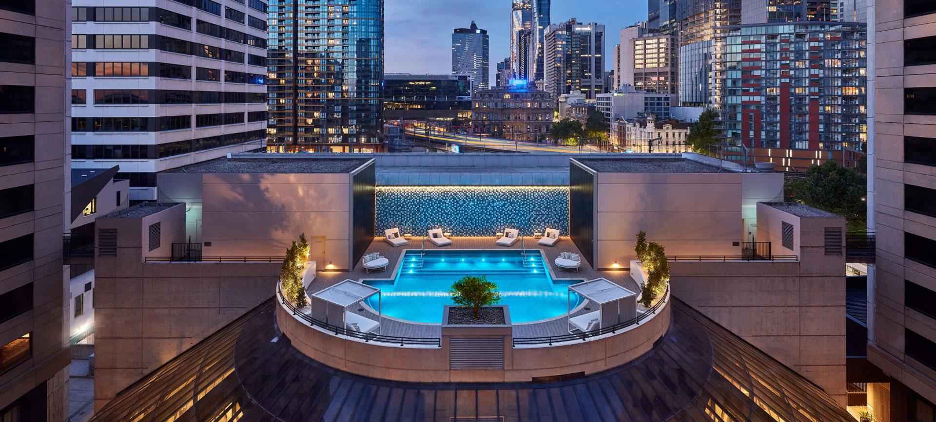 crown plaza pool refurbishement